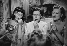 Paulette Godard, Norma Shearer and Phyllis Povah in The Women (George Cukor, 1939)