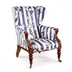 OnlineGalleries.com - A Victorian Arm Chair Upholstered in House Of Hackney's 'Flights Of Fancy' Fabric
