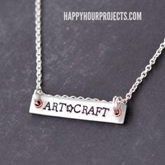 DIY Necklace  : DIY Stamped Bar Necklace