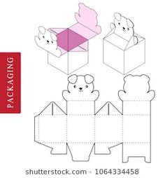 Vector Illustration of Box. Isolated White Retail Mock up. Box Packaging Templates, Packaging Box, Packaging Design, Paper Toys, Paper Gifts, Missouri Quilt Tutorials, Paper Box Template, Teddy Bear Party, Gift Box Design