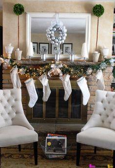 Best Mantel Christmas Decor 2014