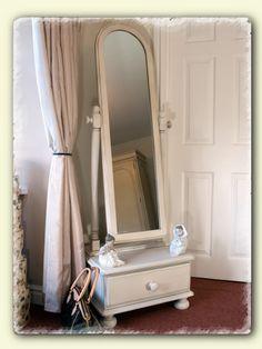 Cheval Bedroom Mirror Swivel Oak Wood Vanity Full Length Framed ...