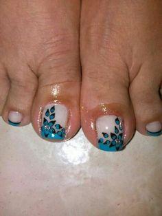 Resultado de imagen de uñas de pie Pretty Nail Designs, Diy Nail Designs, Pedicure Designs, Nail Polish Designs, Cute Toe Nails, My Nails, Pretty Nails, Pedicure Nail Art, Toe Nail Art