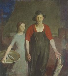 Fisherman and his daughter by Charles Webster Hawthorne
