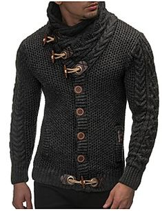 Autumn Winter Casual Cardigan Sweater Coat Men Loose Fit 100 % Warm Knitting Clothes Sweater Coats Men 2018 Dark Gray M Mode Masculine, Leif Nelson, Instyle Fashion, Herren Outfit, Pullover Hoodie, Casual Sweaters, Male Sweaters, Knitting Sweaters, Winter Sweaters
