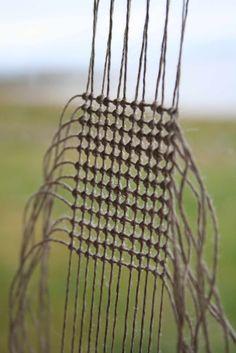 Tapestry weave, linen  August | 2011 | alice fox reticolato