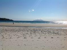 MATAKANA AREA BEACH - Little Barrier Island seen from Omaha Beach, Matakana, Auckland.