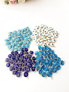 100 Oeil maléfique bleu perles 8 mm-plastique Nazar Perles-TURC-style-Free Ship