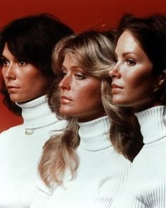 Charlie's Angels stunning profiles. — with Kate Jackson, Farrah Fawcett and Jacklyn Smith. another awesome poster from my 1977-78 scrapbook