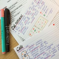 revising-etc: Making revision cards for Biology Unit 2  we have our mocks so soon!!
