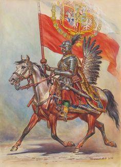 Chorągiew Husarska Koronna Ziemi Mazowieckiej added a new photo. Renaissance, Poland History, Early Modern Period, Illustration, Knights Templar, Modern Warfare, Military Art, Fiction, Wings