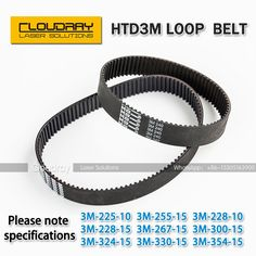 [Visit to Buy] HTD 3M Closed Loop Belt Rubber Timing Belt Various specifications for CO2 Laser Engraving Cutting Machine / 3D Printer #Advertisement