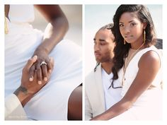 Gabrielle and Stephon Gilmore's Engagment Shoot by Kristin Vining.  All white, Romantic.  Hall & Webb Event Design, Charlotte Wedding Planner