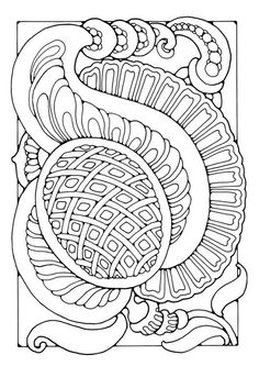 Coloring Page Fantasy Flower