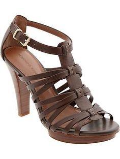 Mari stacked-heel gladiator sandal | Banana Republic