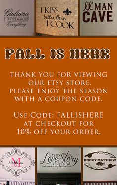 FALLISHERE Coupon Code 10off by designstudiosigns on Etsy, $0.20