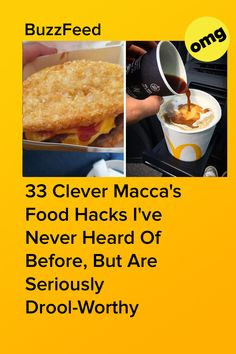 If you're still ordering from the basic McDonald's menu, it's time to grow up. Mcdonald Menu, Aussie Food, Food Hacks, Clever