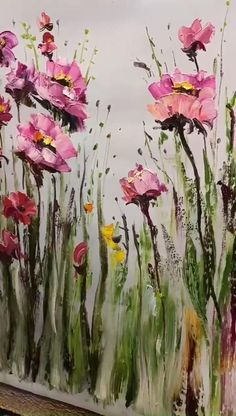 Abstract Canvas Art, Acrylic Painting Canvas, Acrylic Art, Oil Painting Flowers, Watercolor Flowers, Garden Painting, Abstract Flowers, Landscape Paintings, Floral Paintings