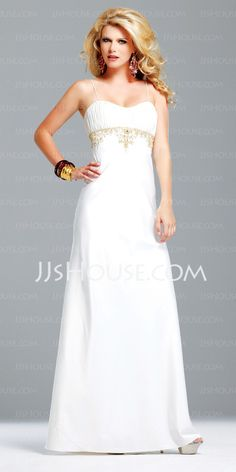 Evening Dresses - $129.99 - Empire Sweetheart Floor-Length Charmeuse Evening Dresses With Ruffle  Beading (017002605) http://jjshouse.com/Empire-Sweetheart-Floor-length-Charmeuse-Evening-Dresses-With-Ruffle--Beading-017002605-g2605