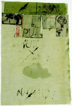 check out the raw collage + assemblages of, Hannelore Baron German-American, 1926 . Collages, Mix Media, Collage Art Mixed Media, Art Abstrait, Art Moderne, Green Art, Textile Artists, Oeuvre D'art, Artwork Prints