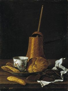 Luis Meléndez Still Life with Chocolate Service 1770