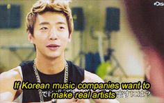 """This is why he inspires me - """"There is a saying, stars are born. Kpop stars, however, are not born. They are made""""-Yongguk"""