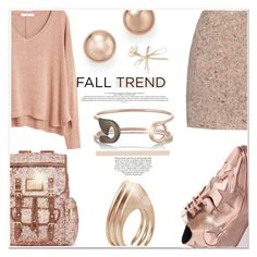 """""""Rose ever so gold"""" by mood-chic ❤ liked on Polyvore featuring Candie's, MANGO, Bloomingdale's, Ludevine, IaM by Ileana Makri, Acne Studios, STELLA McCARTNEY and rosegold"""