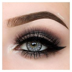 The 50 Prettiest Eyeshadow Ideas to Copy ASAP ❤ liked on Polyvore featuring beauty products, makeup, eye makeup, eyeshadow, eyes, beauty, eyes & lips and asap