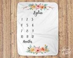 Month Blanket Baby, Baby Girl Blankets, Milestone Blankets, Baby Milestone Blanket, Monthly Baby, Baby Growth, Baby Milestones, Newborn Gifts, New Baby Gifts