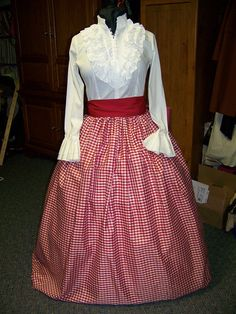 Civil War costume Dickens Christmas  costume Long by civilwarlady, $54.99 - look for this kind of shirt at the thrift store!