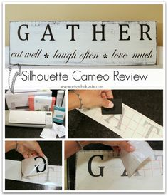 'Gather' Kitchen Sign - Silhouette Cameo Review - Start to Finish - artsychicksrule.com #silhouette #cameo #sign