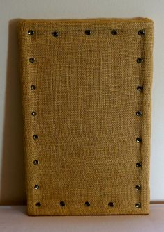 Items similar to Burlap cork board with crystal push pins. on Etsy Burlap Cork Boards, Esty, Track, Unique Jewelry, Handmade Gifts, Crystals, Detail, Shop, Crafts