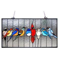 Chloe Lighting Tiffany Featuring Birds Cage Window Panel