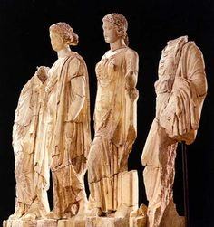 Asklepius's (the god of medicine and healing) Daugthers, image from the Archaeological Museum, Dion, Central Macedonia, Greece