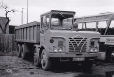 B/W PHOTO: ARC FODEN HALF-CAB 8 WHEEL TIPPER - GGK 532J #NA Vintage Trucks, Old Trucks, Old Lorries, Commercial Vehicle, Buses, Tractors, Transportation, British, Europe