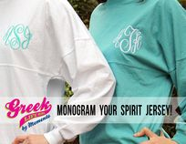 PIN THIS ONE!!! Greek Life Girl is the only Greek Licensed company I've found that allows you order individual Sorority Spirit Football Jerseys and add your monogram on the front