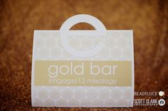 engage!12 gifting included a custom designed 'gold bar' by Gifts for the Good Life