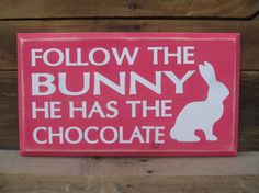 Easter Bunny Board - Easter Vinyl Board- Easter Decoration - Easter Sign on Etsy, $15.00