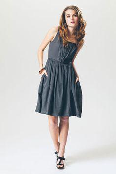 Prairie Underground - Bouffant Dress in Graphite