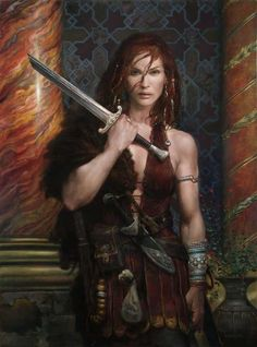 red hair angels | 593x800_7883_Red_Sonja_2d_fantasy_oil_painting_warrior_female_red_hair ...