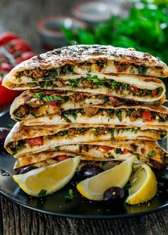 Turkish Gozleme with Lamb - savoury homemade flatbreads from scratch filled with ground lamb, spices, herbs and feta cheese. # Food and Drink homemade Turkish Gozleme with Lamb - Jo Cooks Lebanese Recipes, Turkish Recipes, Greek Recipes, Meat Recipes, Cooking Recipes, Dinner Recipes, Lamb Mince Recipes, Arab Food Recipes, Healthy Recipes