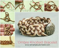 Ombre Knotted Bracelet