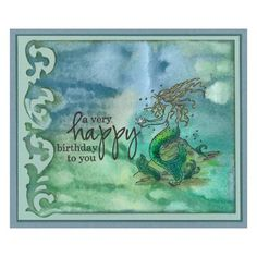 Stamp-it Australia: 4848E Mermaid, 4895D Birthday to You, Distress Stains, Sizzix Scrollwork Die - Card by Susan
