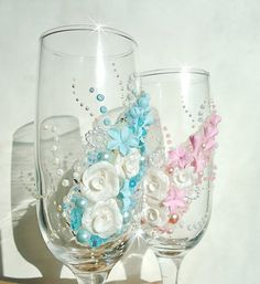 Beautiful hand decorated wedding or anniversary by flowerdeco, $49.95