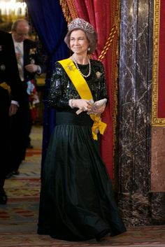 10 June 2014 Spanish Royal Family attended a dinner at The Royal Palace in Madrid in honour of Mexican President Enrique Pena Nieto and his wife Angelica Rivera.