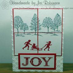JOY Christmas Greeting Card - Handmade - One of a Kind ( OOAK )  by JaiMooreDesigns on Etsy, $2.75