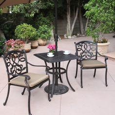 Darlee Santa Monica/Series 88 Outdoor Bistro Set - Outdoor Living Showroom