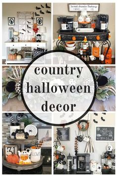 Country classy Halloween Decor ideas from Witch Decorations to vintage Halloween Decorating DIY chic modern farmhouse cute designs Fireplace Indoor For Kids Scary Elegant Easy Creepy House Spooky Witches Bats Jack o' Lanterns Candy Corn Ra Retro Halloween, Happy Halloween, Country Halloween, Classy Halloween, Farmhouse Halloween, Women Halloween, Halloween Nails, Costume Halloween, Halloween Makeup