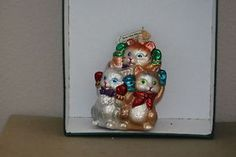 3 kittens lost their mittens Old World Christmas glass ornament | eBay