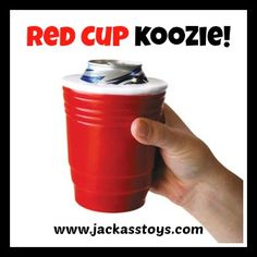 REPIN! Great GIFT--Red Cup Koozie--only $9.99 from Jackass Toys! no redneck party is complete without...red solo cup!